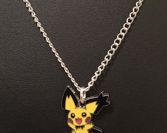 Silver Plated Nintendo Pokemon Pichu Necklace