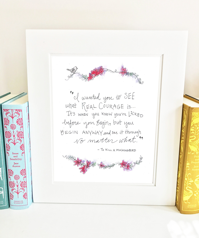 Kill mockingbird scrapbook ideas - Living Room Art To Kill A Mockingbird Wall Art Illustration Sq1