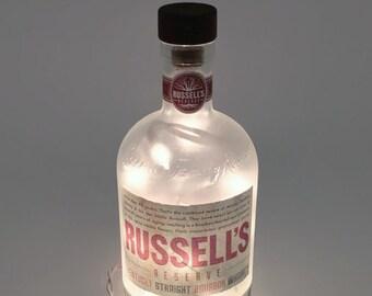 Russell's Reserve Kentucky Straight Bourbon Whiskey Bottle Lamp / Gifts for Men / Gift Ideas