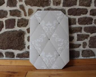 French Memo Board in Laura Ashley Wilton Linen - home decor, birthday gift, soft furnishings