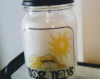 Dog Days of Summer Mason Jar Soap Dispenser / Dog Days Soap Dispenser / Summer Soap Dispenser / Dog Soap Dispenser /Mason Jar Soap Dispenser
