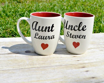 custom coffee cup, gift for uncle, gift for aunt, pregnancy announcement, uncle gift, aunt gift, personalized womens, mother's day gift