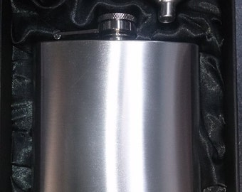 6oz Stainless Steel Hip Flask & Funnel Gift Set