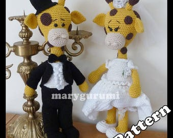Crochet Pattern, pattern, tutorial, Amigurumi Couple giraffe