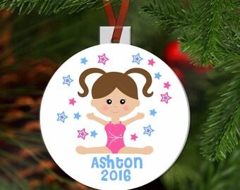 Personalized Gymnastics Ornament Girl Gymnasst Ornament Tumbler Ornament