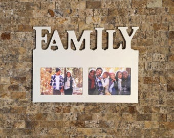 6 letter frame etsy photo frame family reverse cutout letters personalized laser engraved ivory coloring spiritdancerdesigns Gallery