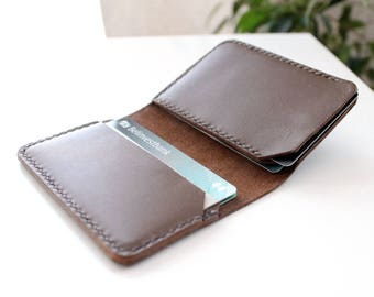 Leather card holder Credit card wallet Card case Leather Wallet minimalist wallet Handcrafted leather card case redit card organizer