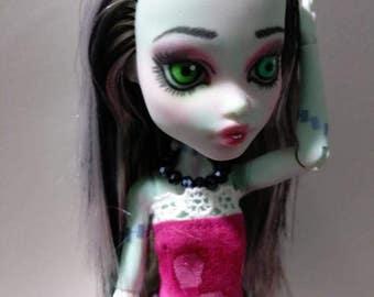 Monster High Repaint Redress Frankie Stein OOAK Custom Art Doll