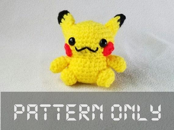 Amigurumi Patterns Pikachu : Crochet amigurumi pikachu pdf pattern diy crochet pikachu ears