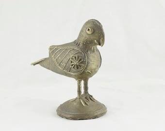 Brass Bird / Boho Decor / Vintage Brass Bird Statue, Antique Bird for Children, Home Decor & Gift Statue #1686