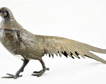 Brass Bird / Boho Decor / Vintage Brass Bird Statue, Antique Bird for Children, Home Decor & Gift Statue, Collectible Toy #1726
