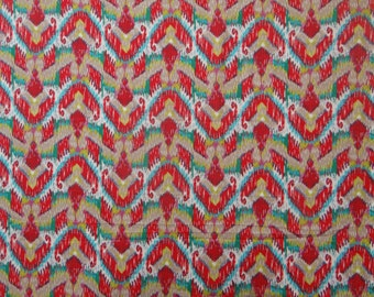 "Indian Dress Fabric, Abstract Print, Home Decor, Quilting Fabic, Sewing Craft, Designer Fabric, 42"" Inch Cotton Fabric By The Yard ZBC6929A"