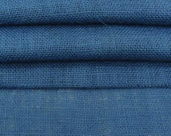 "Blue Jute Fabric, Blue Burlap, Natural Fabric, Rustic Decor, Home Decor Fabric, Burlap Fabric, 50"" Inch WIde Jute Fabric By The Yard ZJC32A"