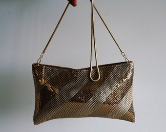 Gold mesh evening bag by Gold Crest - made in Hong Kong