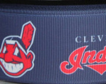 Cleveland Indians (1.5 Width) Dog Collar - Side Release Buckle (Martingale Option Available)