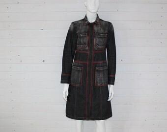 DKNY  Dark Grey Denim Women's Jacket Size Small (6)