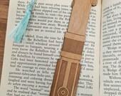 Star Wars Rey and Luke and Anakin Skywalker / Darth Vader Lightsaber Bookmark with Tassel