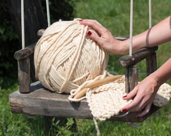 1 kg (2,2 lb) Bulky Yarn #PremiumMerinoMini - Super Bulky Yarn for Chunky Knits, Blanket Yarn, Big Yarn, Thick Yarn, Hand-Spun Yarn
