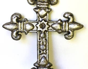 Metal Wall Crosses - Silver/ Oil Rubbed Bronze - Godfather Gift - Baptism Gift - Gallery Wall Decor - Christian Wall Art - Cross Wall Art