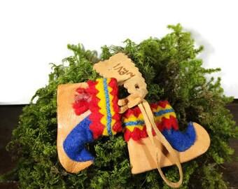 Saami Lapland Souvenir Traditional Ethnic Boots Sami Folk Art, Free Shipping