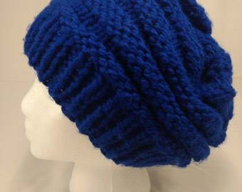 Chunky knitted over-sized slouchy beanie