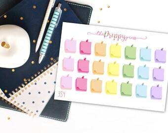 Pastel Post It Note Reminder Functional Planner Stickers for Erin Condren, Plum Paper, Happy Planner Stickers (354)