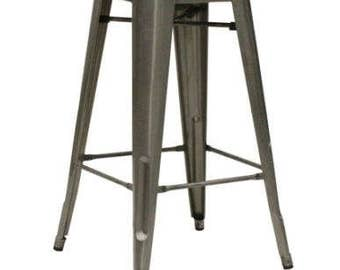 Tolix Style French Bistro High Stool