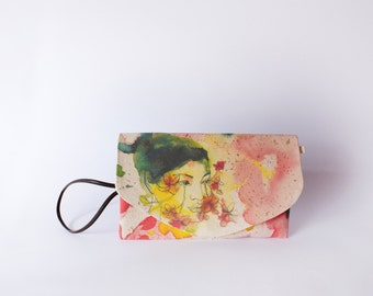 Illustrated bag Lyth - envelope bag