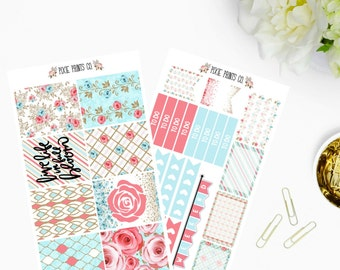 Full Bloom Planner Sticker Kit, for use with Erin Condren, Life Planner, Mambi, Happy Planner, Create 365, Stickers