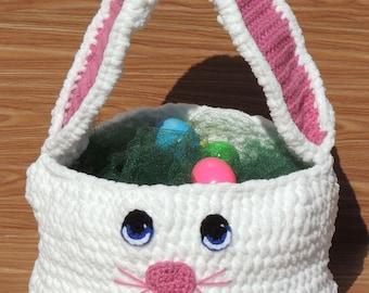 Easter Basket, Crochet Easter Basket, Bunny Basket, Crochet Bunny, Crochet Bunny Basket, Bunny Easter Basket, Gift for Child, Easter
