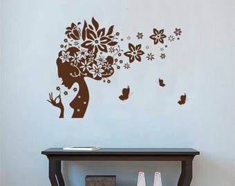 Hair Salon Wall Decor beauty salon decal | etsy