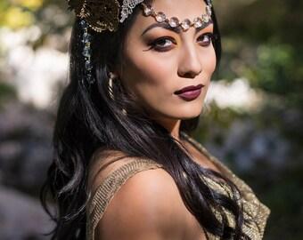 The Devaki - black and mixed metal headdress