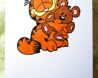 Garfield and Pooky Card: Add a Greeting or Leave Blank