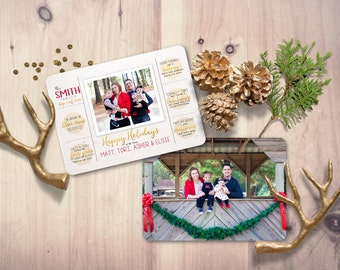 Christmas Card Templates - Christmas Card Template Printable - Holiday Card Templates - ...