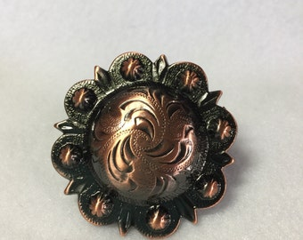 1 1/2  inches Western Berry Copper Scarf Slide