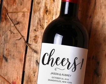 Printable wedding wine label template, instant download, editable text PDF, customizable wedding label