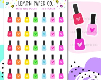 M023 Nail Polish // Planner Stickers