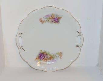 Antique Floral Platter  - 1197