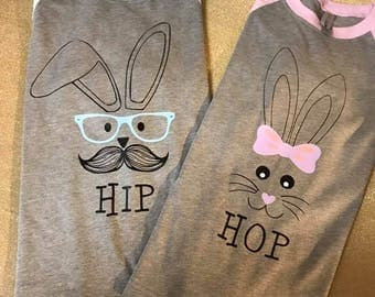 Sibling Easter Raglan - Brother and Sister Easter Shirt - HIP HOP Easter Shirt - Happy Easter Tee - Monogrammed Easter Shirt