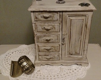 Upcycled Shabby Chic Jewelry Box
