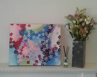 Flower painting / acrylic painting / canvas / mixed media / art