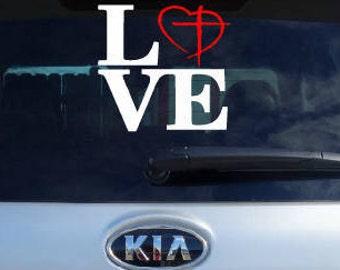 I Heart Jesus car decal, Christian Car decal, Jesus Car decal, Jesus sticker, Religious decal, Faith sticker, Faith decals, God Decal