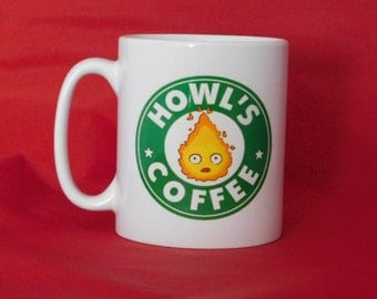 Howl's Moving Castle Calcifer Starbucks Inspired Coffee Mug 10oz