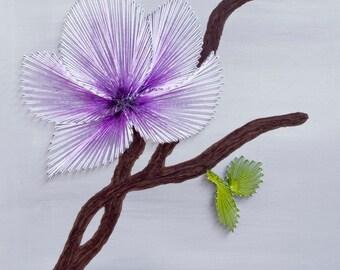 String art Magnolia Flower | Flower string art | String art flower | Magnolia | Magnolia branch | Spring string art