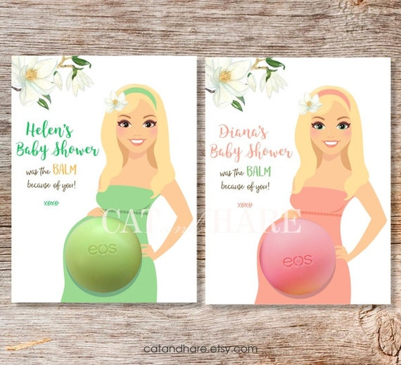 lip balm baby shower favors personalized gift tags thank you favors