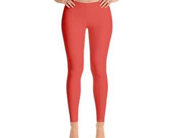 Vermilion Leggings - Stretchy Yoga Pants, Workout Clothes for Women