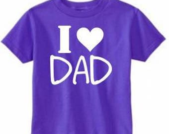 I Love/Heart Dad - TODDLER Tees/Raglans - Made to Order