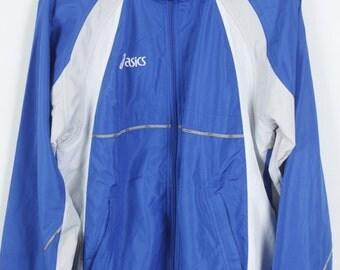 Vintage jacket, 90s windbreaker, ASICS vintage, track jacket, 90s clothing