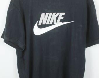 Vintage 90s NIKE T-Shirt black with Logo Print