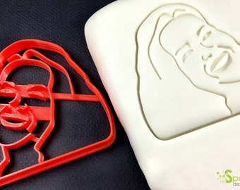 Custom Portrait Cookie Cutter and Custom Portrait Fondant Cutter  for Valentine's Days, Weddings and more